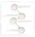 Circle process template infographic Business vector image