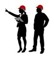 engineer and foreman vector image