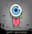 Halloween eye ball monster vector image