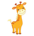 happy cartoon giraffe vector image