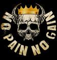 king skull t shirt graphic design vector image