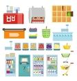 Set of Trading Equipment for Supermarket vector image