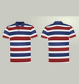 striped polo t shirt vector image