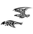 Two birds mascots in tribal style vector image