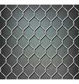 Seamless metal grid vector image vector image