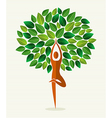 India yoga leaf tree vector image