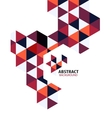 Purple mosaic triangle business template vector image