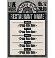 karaoke restaurant vector image vector image