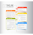 Infographic timeline report template with vector image vector image