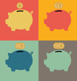 Colorful Piggy Bank Icon vector image vector image