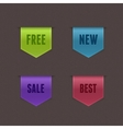 Set of 4 quality ribbons vector image vector image