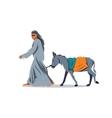 Donkey Drover Cartoon vector image