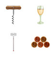 corkscrew alcohol counter barrels in the vault vector image