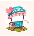 flat of Cotton Candy cart vector image