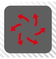 Centrifugal Arrows Rounded Square Button vector image