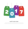 Happy new year 2017 Text Design template vector image