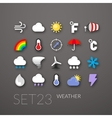 Flat icons set 23 vector image