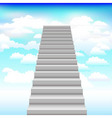 staircase into sky background vector image vector image