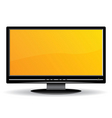 black lcd monitor vector image