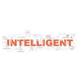 design concept of word intelligent website banner vector image