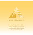 Mountain camp logo design template Adventure vector image