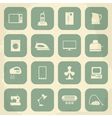 Retro home appliances icons vector image