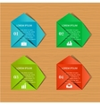 Set of business envelopes vector image