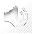 transparent sound vector image