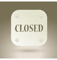 Closed sign in a shop window vector image