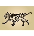 Tiger ornament decoration vector image