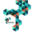 Abstract mosaic geometric shapes isolated vector image vector image