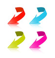 Colorful 3d Arrows Set Isolated on White vector image vector image