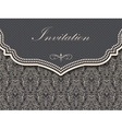 Invitation or wedding card with damask background vector image vector image
