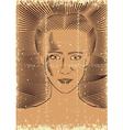 vintage woman vector image