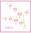 flowers hearts vector image vector image