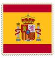 Spain flag post vector image