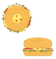 bagel sandwich vector image