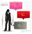 Colorful speech bubbles template with business vector image