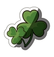 Isolated clover leaf design vector image