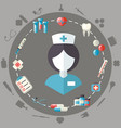medical healthcare doctor flat icons set vector image
