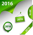 New Year green card web design elements vector image