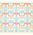 retro seamless floral pattern vector image