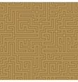 seamless abstract complex maze labyrinth vector image