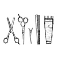 Set of hairdressers tools vector image