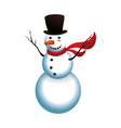 snowman cartoon isolated vector image