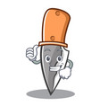 thumbs up knife character cartoon style vector image