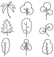 Simple tree on doodles vector image