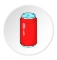Soda can icon cartoon style vector image