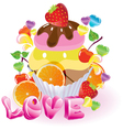 sweet love vector image