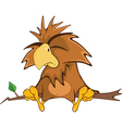 Cute Owl Cartoon Character vector image